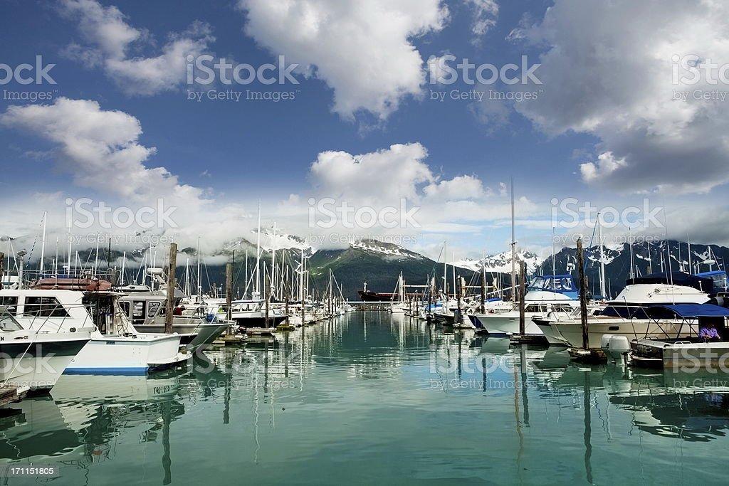 Marina in Seward,Alaska...USA stock photo
