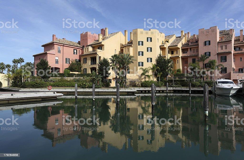 Marina in Sotogrande, Spain royalty-free stock photo