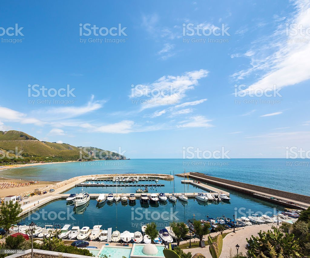 Marina in Sperlonga, Lazio Italy stock photo
