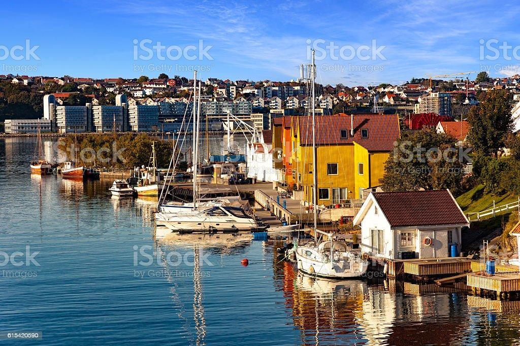 Marina in Stavanger stock photo