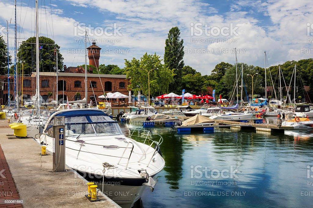 Marina in Swinoujscie, Poland stock photo