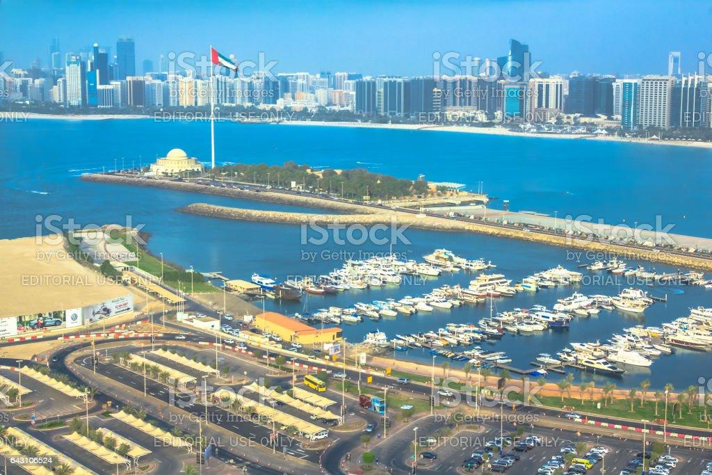 Marina of Abu Dhabi stock photo