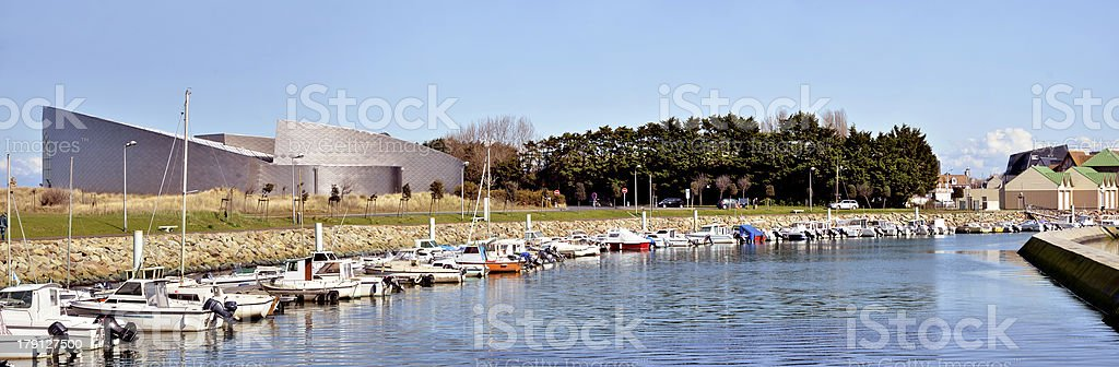 Marina of Courseulles in France royalty-free stock photo