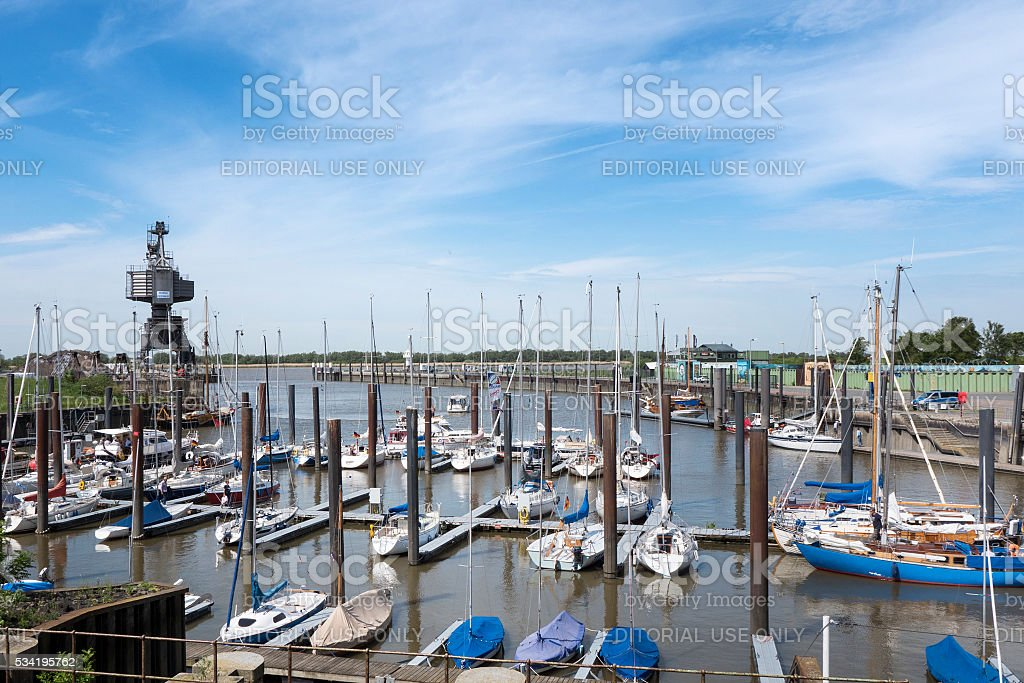 Marina of Glueckstadt, Germany stock photo
