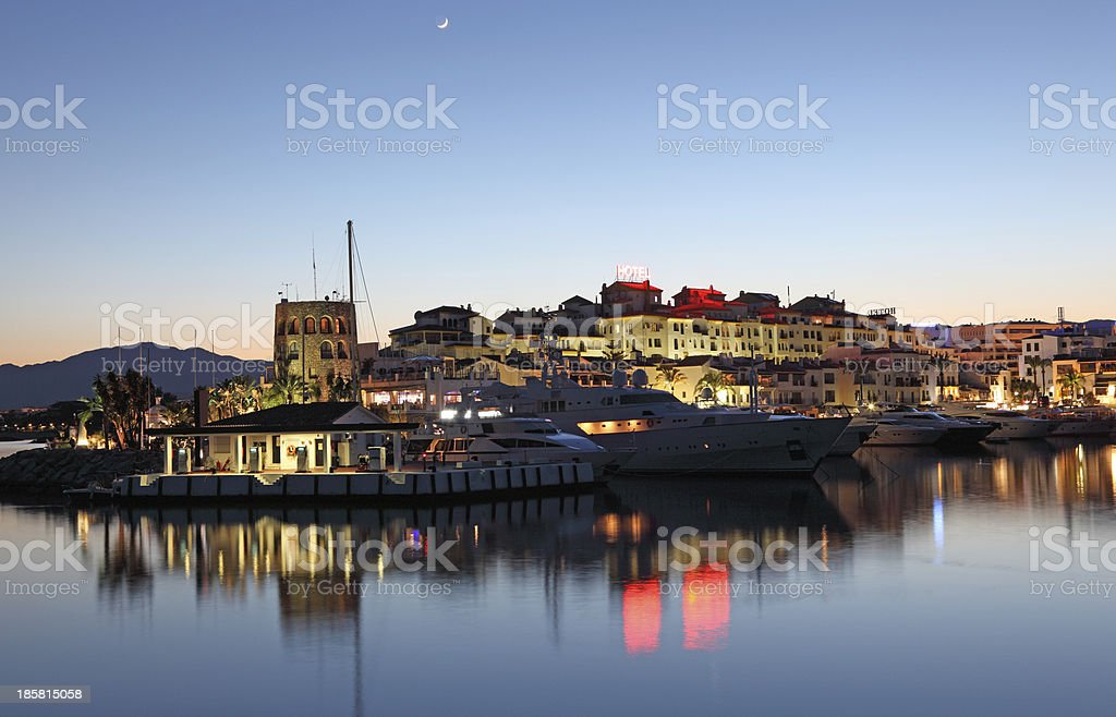 Marina of Marbella in Andalusia, Spain stock photo