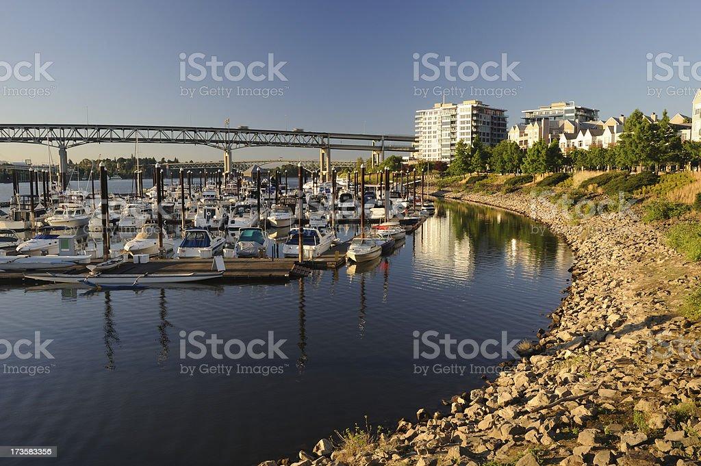 Marina of Portland royalty-free stock photo