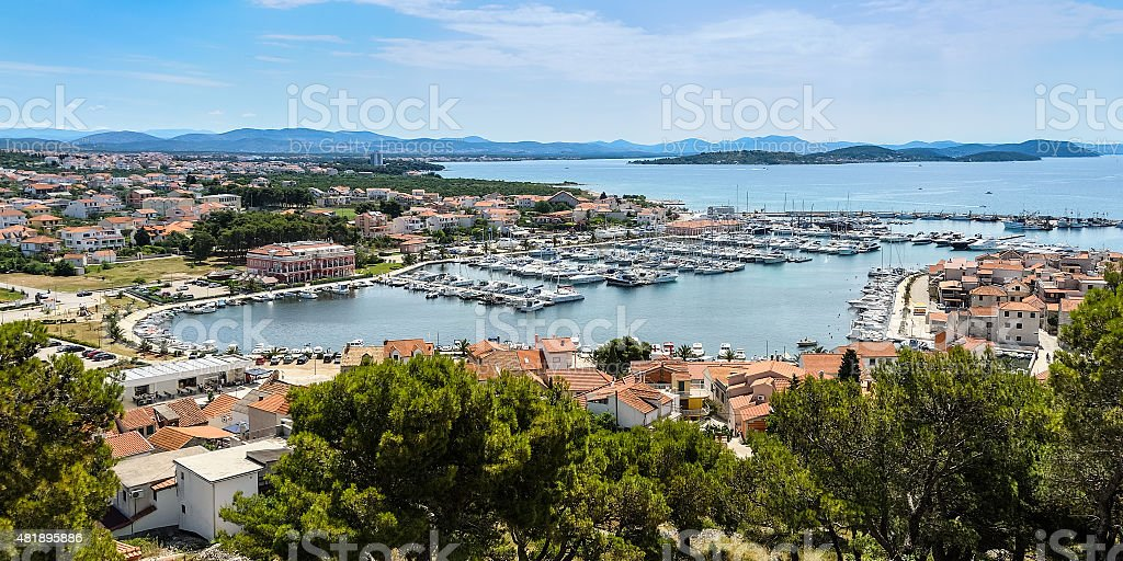 Marina of Tribunj in Croatia stock photo