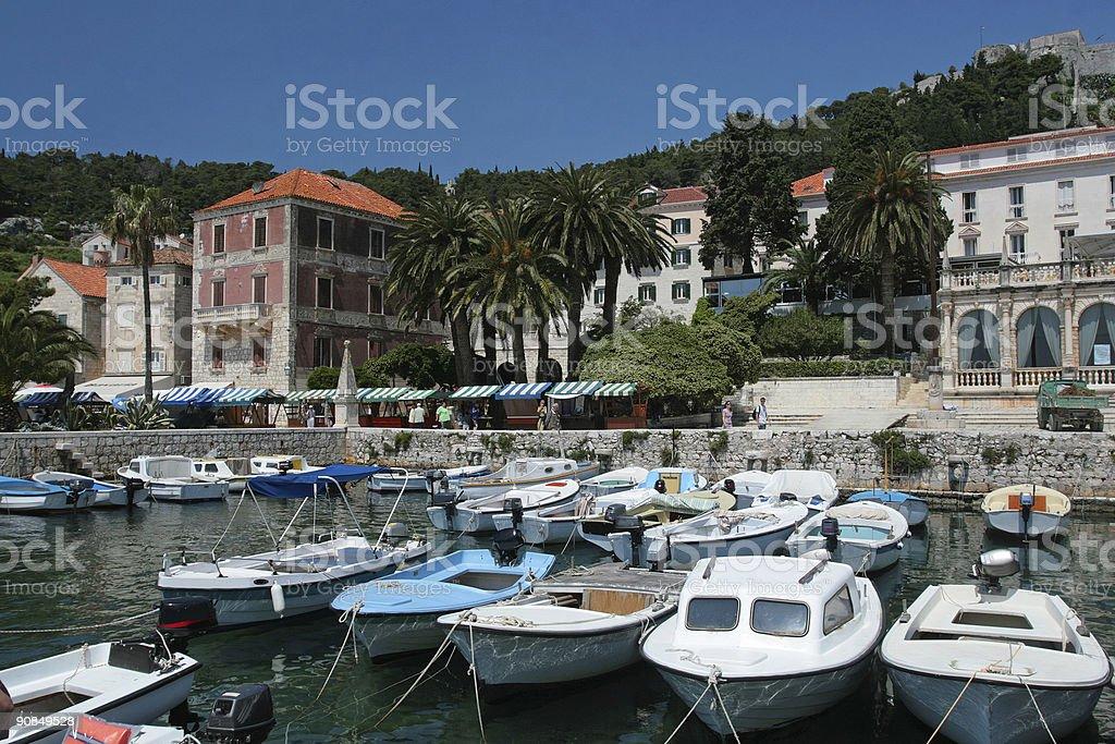 Marina on island of Hvar royalty-free stock photo