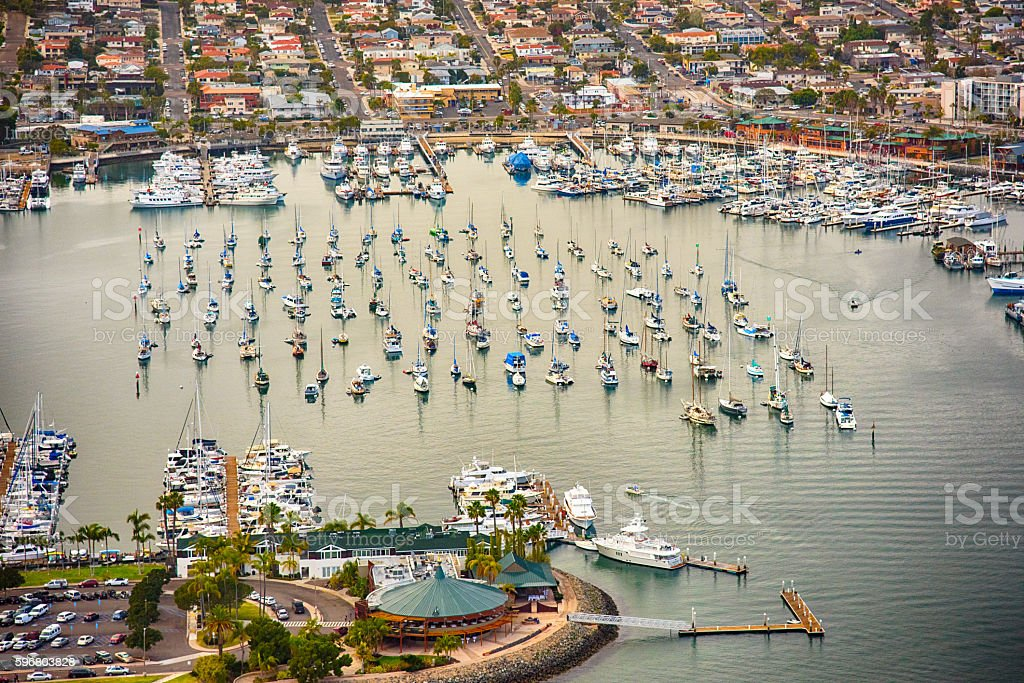 Marina on San Diego Bay - Shelter Island stock photo