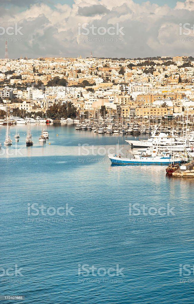 Marina on the Harbor in Malta royalty-free stock photo