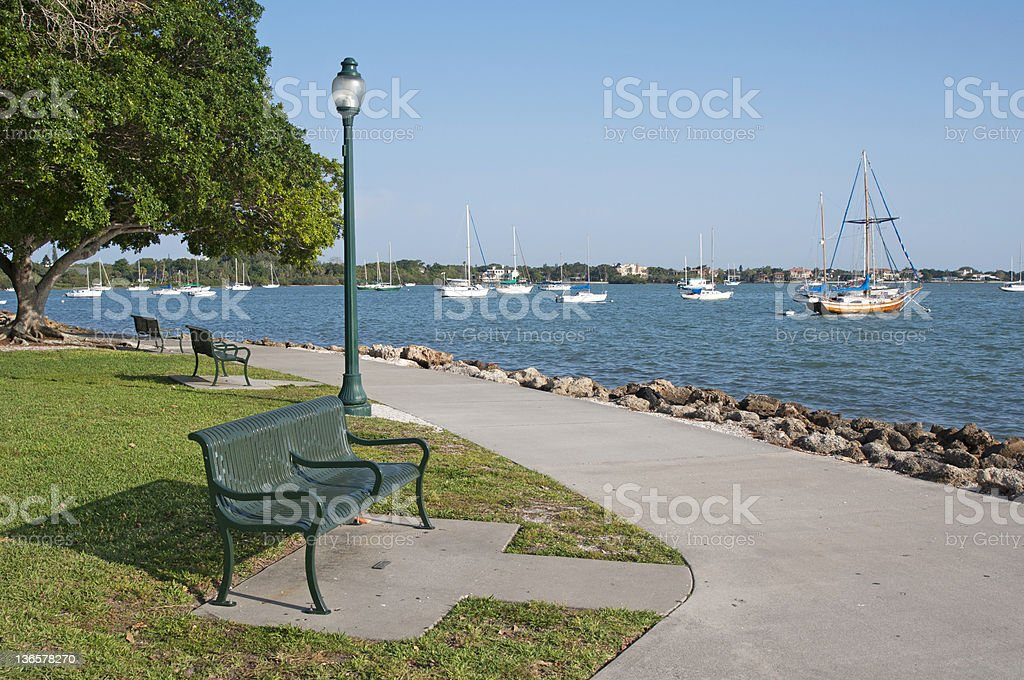 Marina overview stock photo