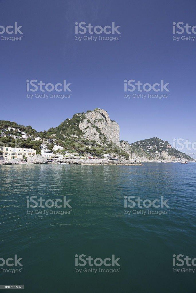 Marina Piccola on Capri, Italy royalty-free stock photo