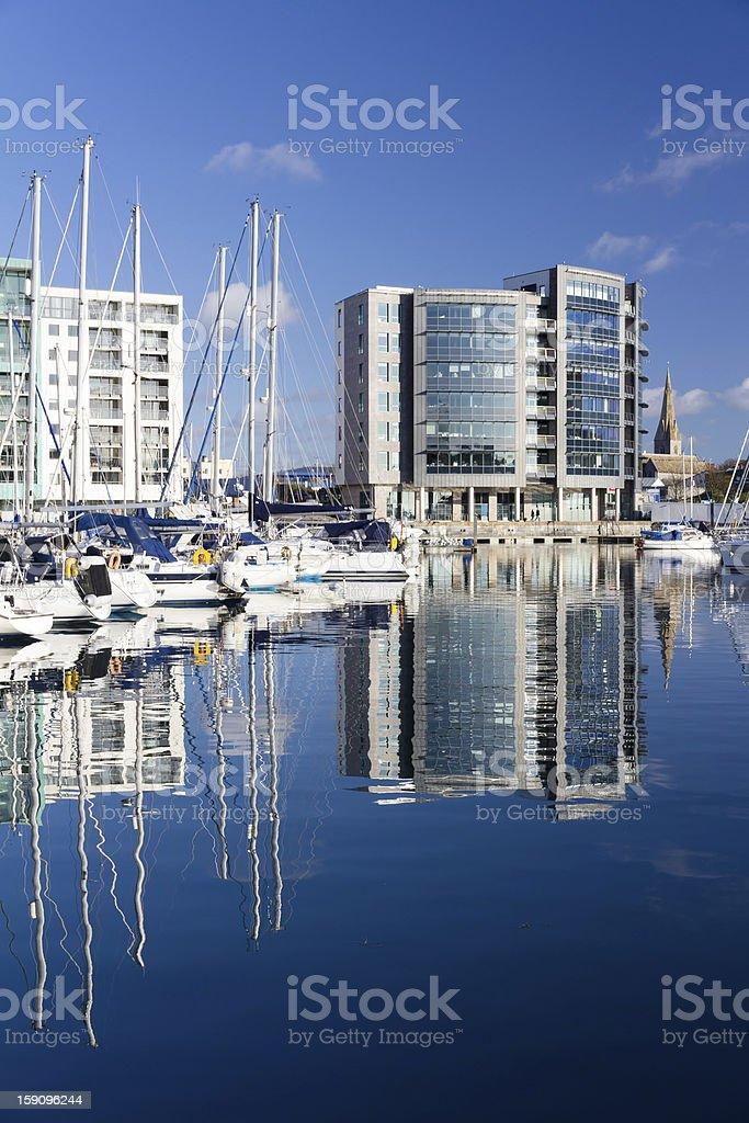 Marina de Plymouth photo libre de droits