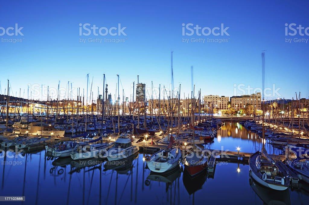 Marina Port Vell in Barcelona - Spain stock photo