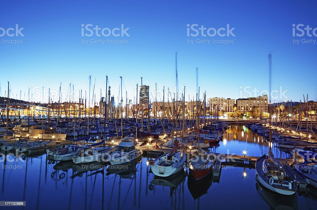 Marina Port Vell in Barcelona - Spain stock photo