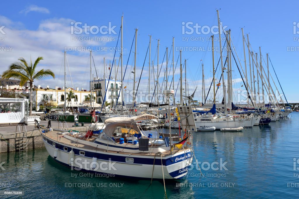 Marina Puerto de Mogan stock photo