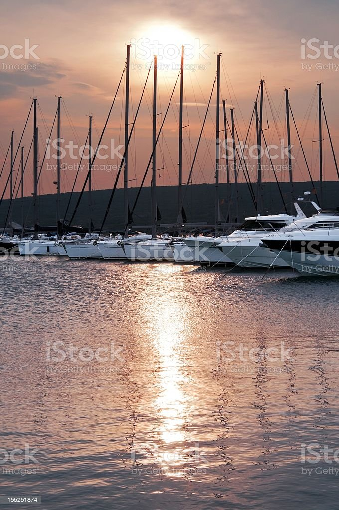 Marina Punat royalty-free stock photo
