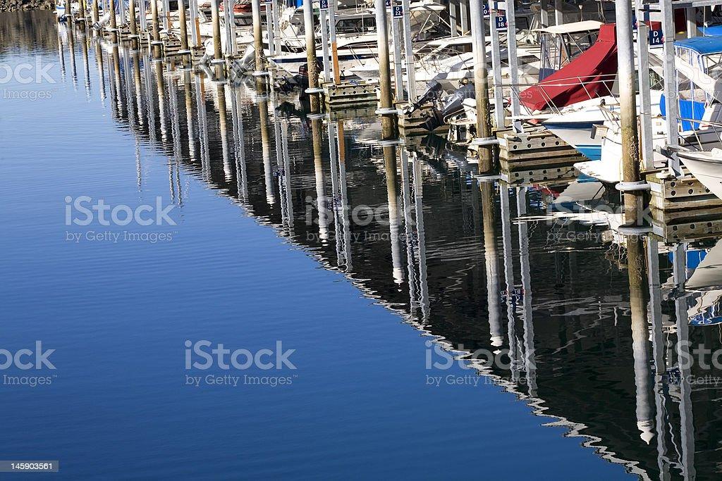 Marina Reflections Boats Edmonds Washington royalty-free stock photo