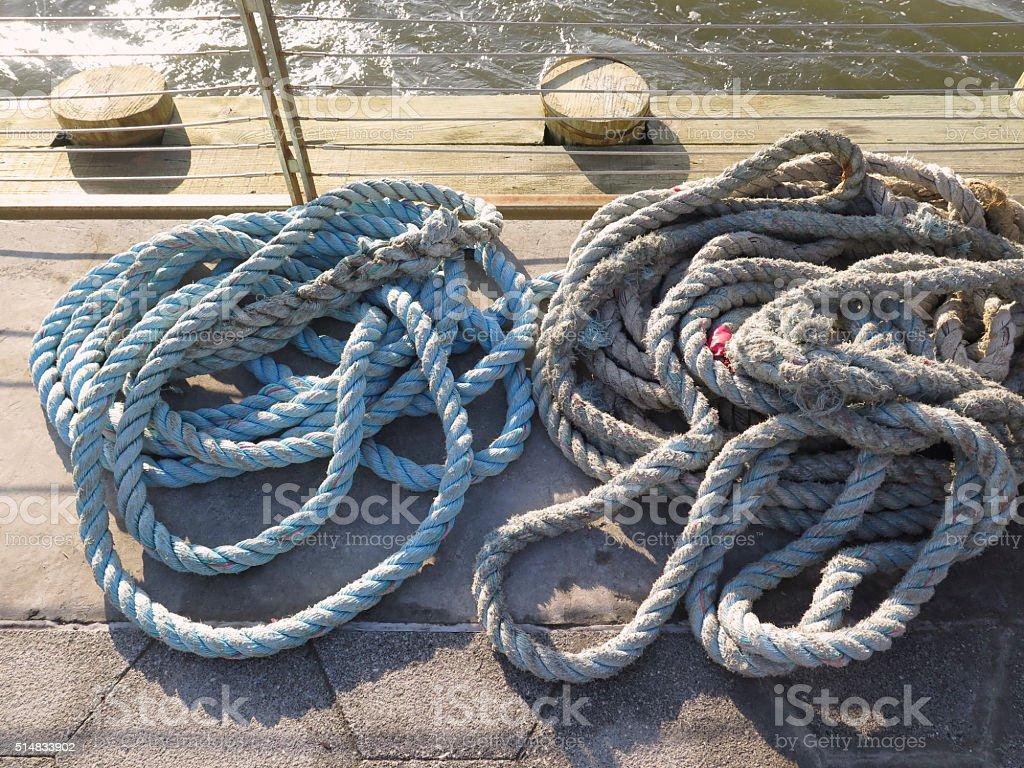 Marina Rope Coils stock photo
