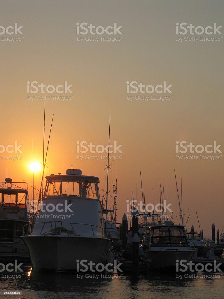 Marina Sunset in the Carolinas royalty-free stock photo
