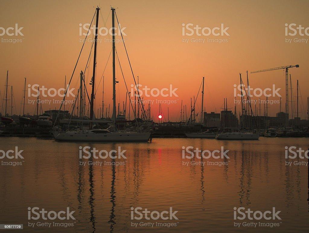 marina słońca Krajobraz zbiór zdjęć royalty-free