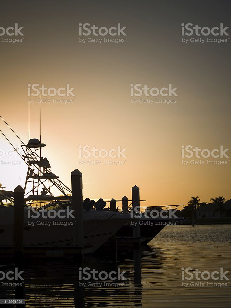 Marina Sunset royalty-free stock photo