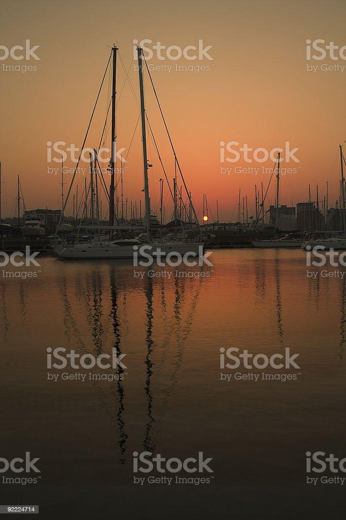 marina Zachód słońca zbiór zdjęć royalty-free
