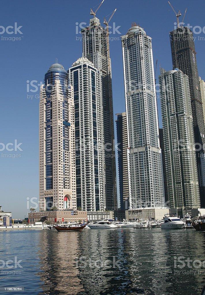 Marina Towers royalty-free stock photo