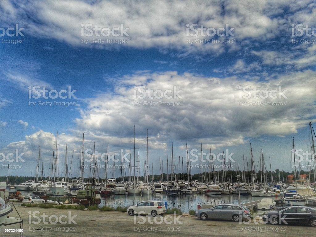 marina view stock photo