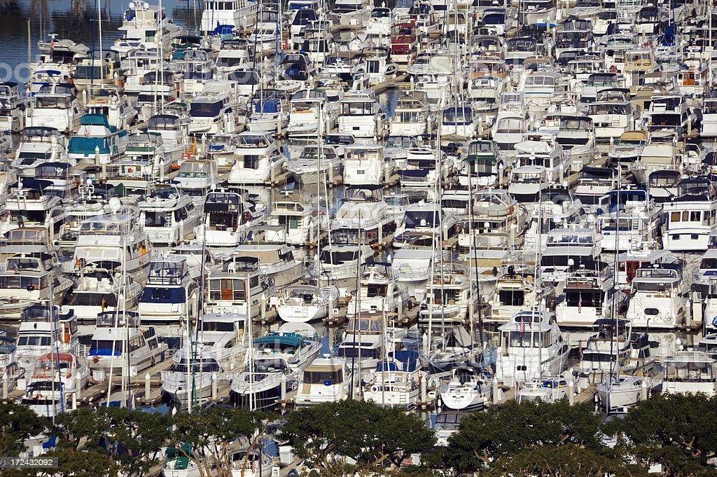 Marina with boats royalty-free stock photo