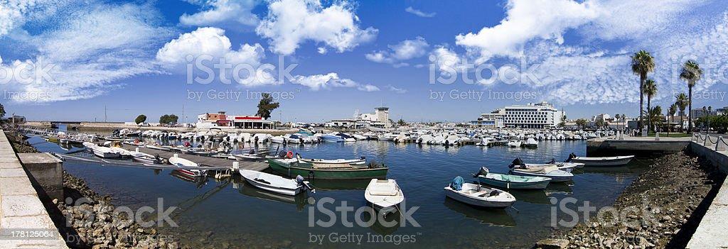 marina with recreational boats royalty-free stock photo