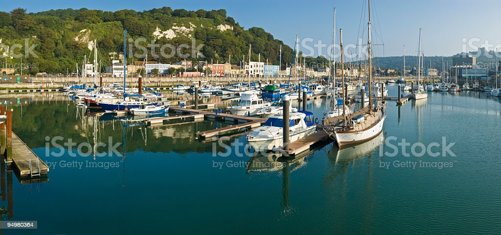 Marina yachts panorama royalty-free stock photo
