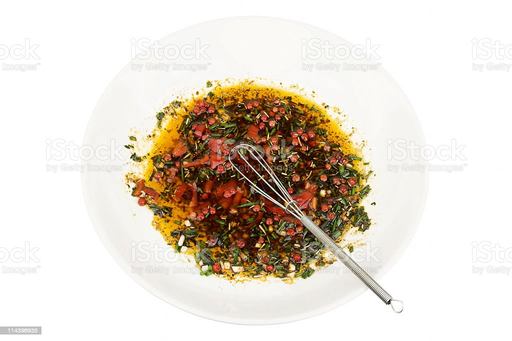 Marinade With Whisk stock photo