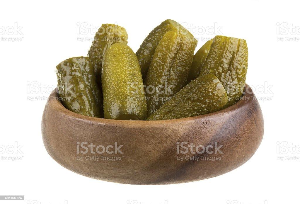 Marinaded cucumber royalty-free stock photo