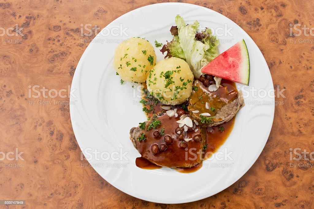 Marinated beef with stock photo
