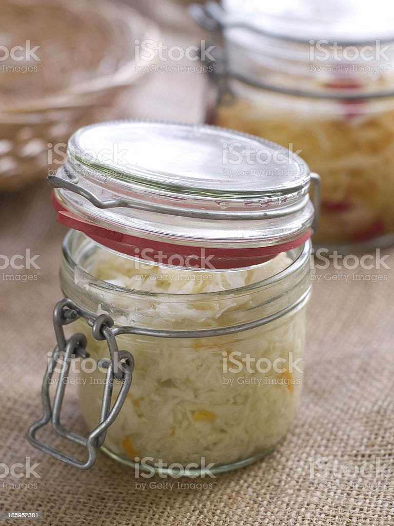 Marinated cabbage (sauerkraut) stock photo