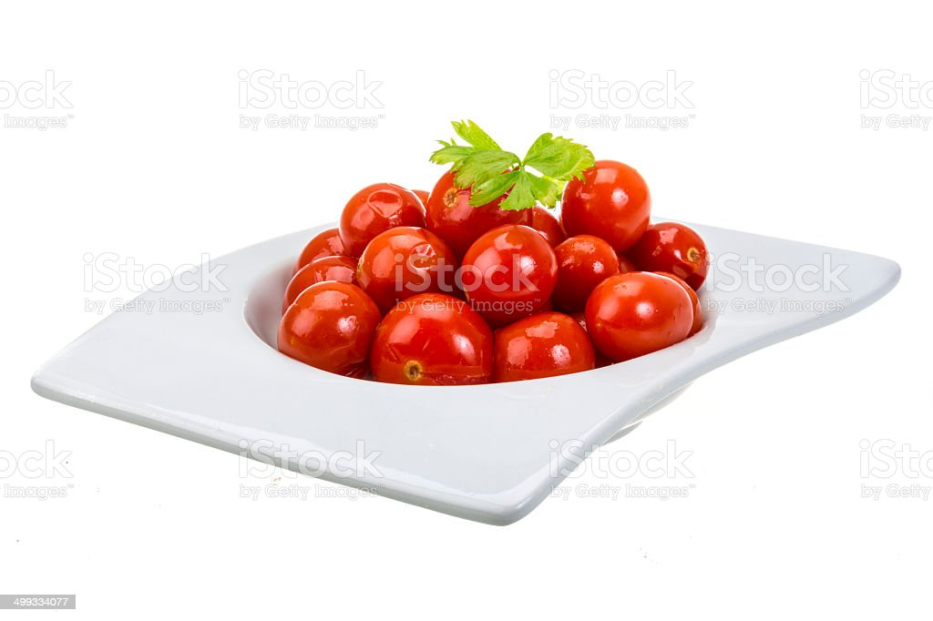 Marinated cherry tomato royalty-free stock photo