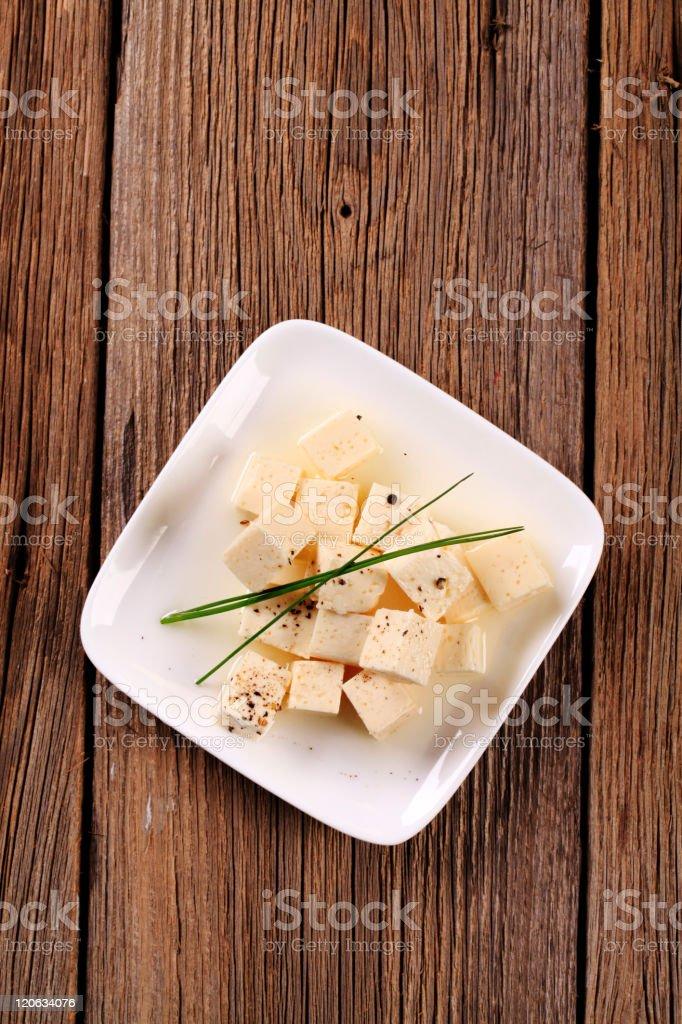 Marinated Feta Cheese royalty-free stock photo