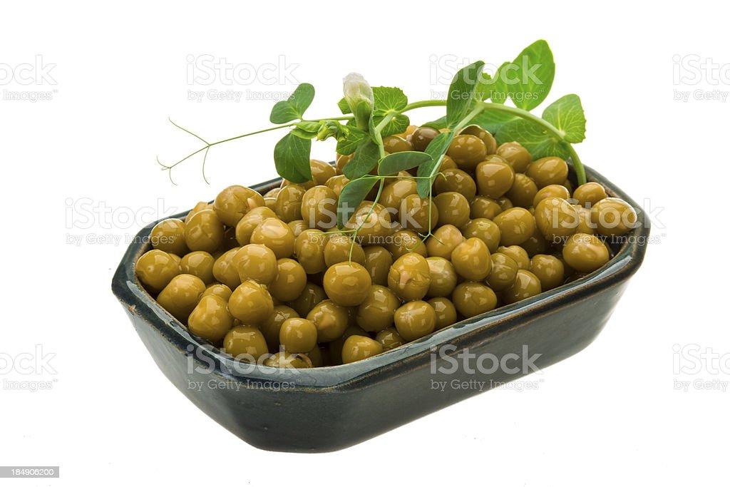 Marinated green peas royalty-free stock photo