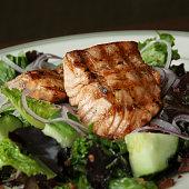 Marinated Grilled Salmon Salad