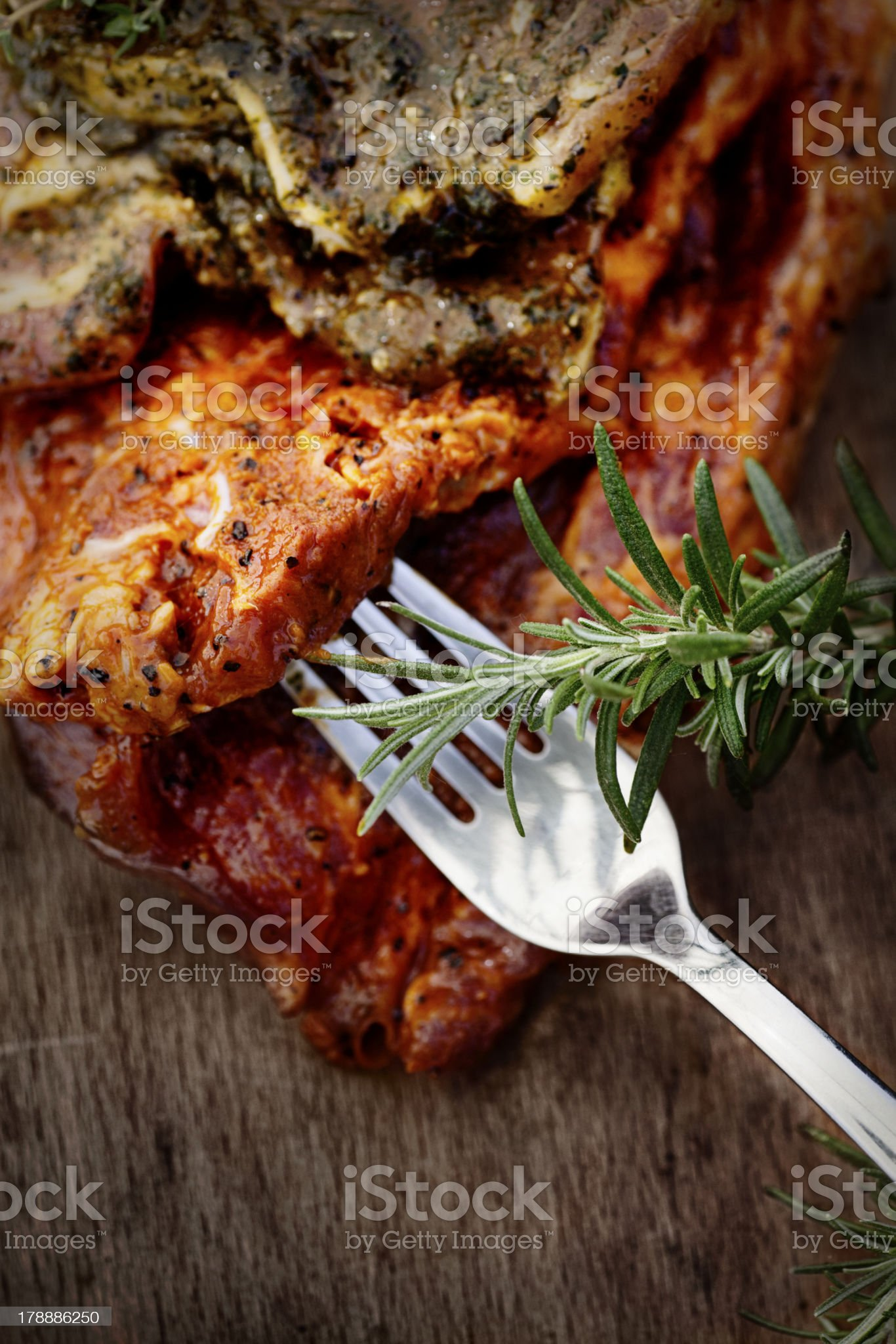 Marinated meat royalty-free stock photo