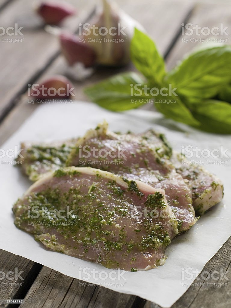 marinated meat royalty-free stock photo