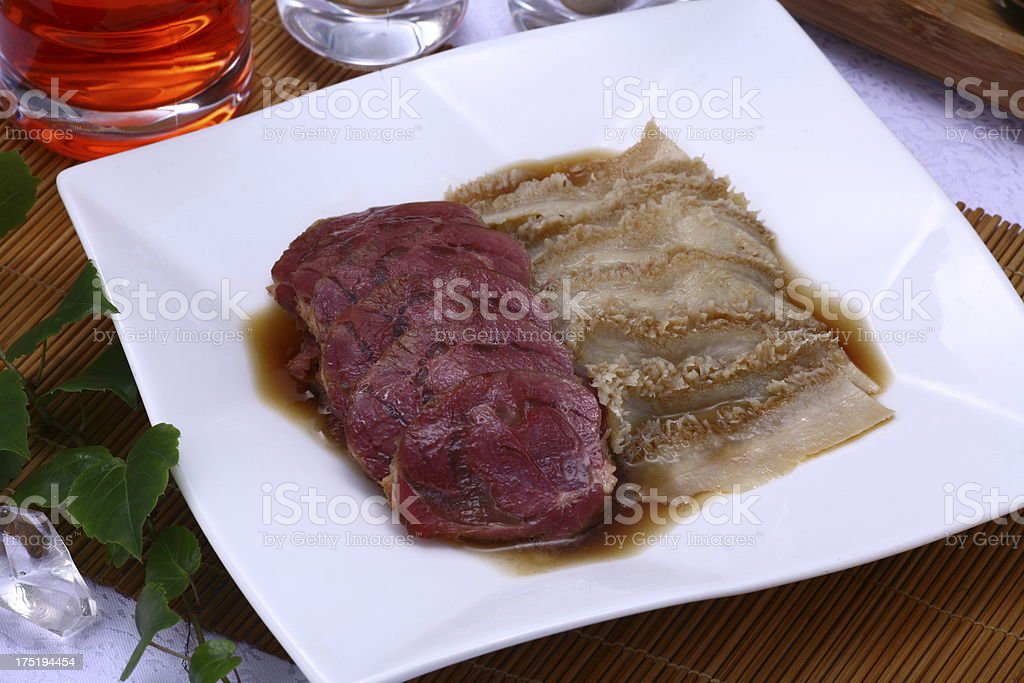 Marinated Meat Plate royalty-free stock photo