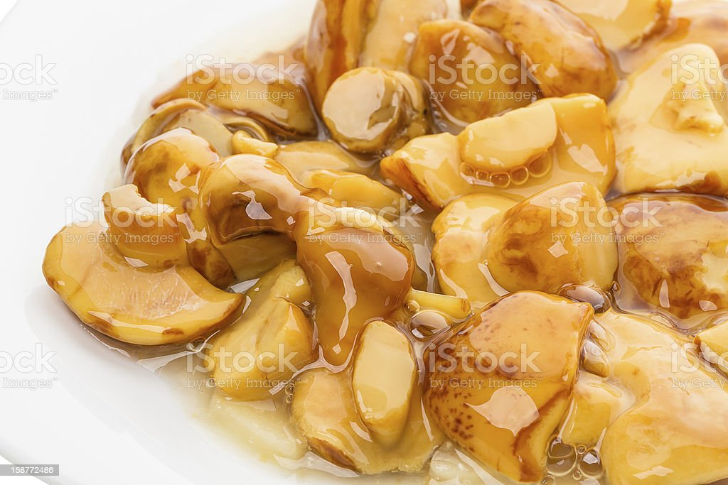 Marinated mushrooms royalty-free stock photo