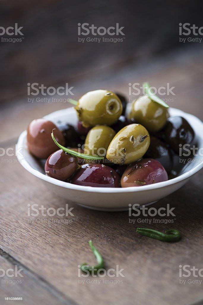 Marinated Olives royalty-free stock photo