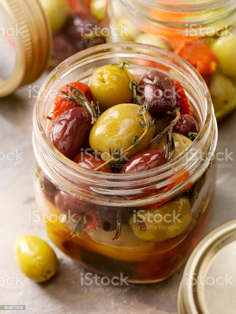 Marinated Olives stock photo