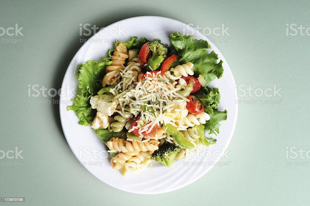 Marinated Pasta Salad royalty-free stock photo