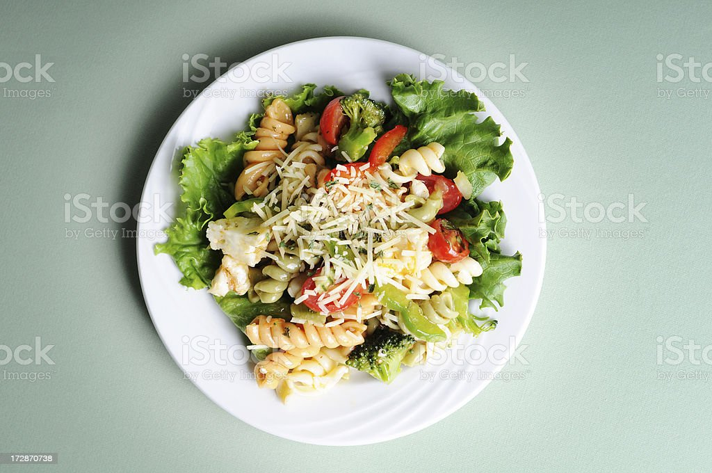 Marinated Pasta Salad stock photo