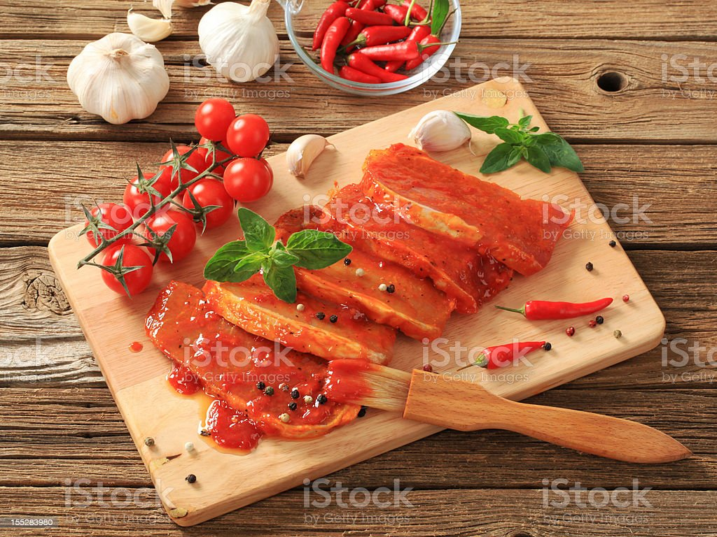 Marinated pork royalty-free stock photo