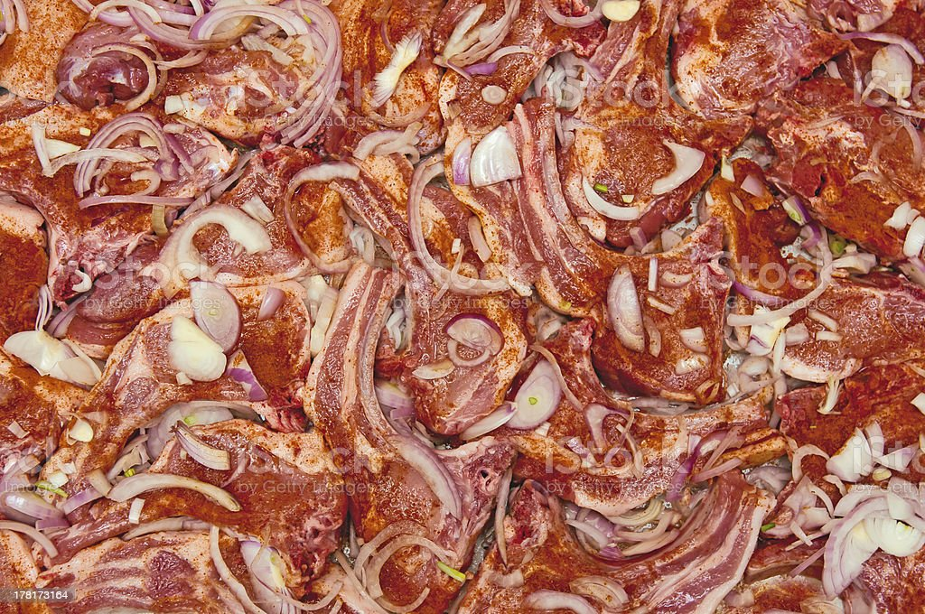 Marinated pork texture royalty-free stock photo